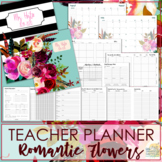 Teacher Planner - Romantic Flowers