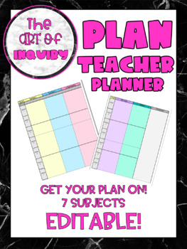 Teacher Planner Schedule