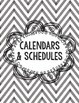 Teacher Planner Sections- Black, Grey, and White