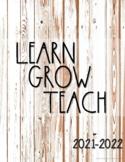 Teacher Planner 2021-2022{Shabby Wood}