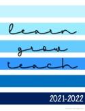 Teacher Planner 2021-2022{Shades of Blue}