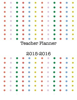 Teacher Planner Simple Dots