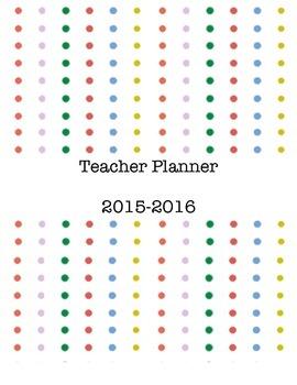 Teacher Planner Simple Dots