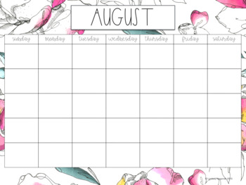 Teacher Planner (Sketched Botanical Themed)