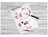 Teacher Planner Sticker PRINTABLE - Minnie Mouse