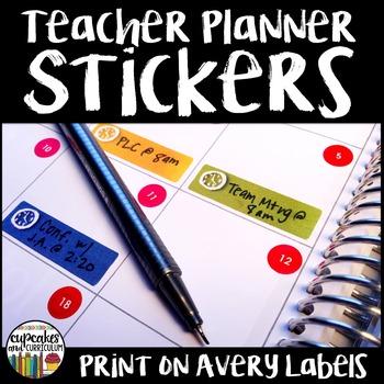 Teacher Planner Stickers