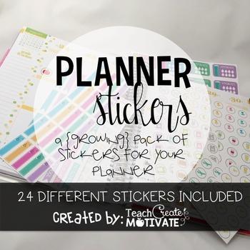 Teacher Planner {Stickers} (Growing Pack)