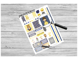 Teacher Planner Stickers PRINTABLE - Beauty and the Beast