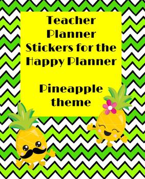 Teacher Planner Stickers Pineapple Theme for Teacher Happy Planner!