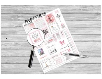Teacher Planner Stickers - Spring in Paris