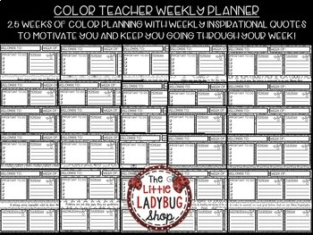 It's just a graphic of Superb Teacher Coloring Planner