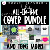 Teacher Planner / Teacher Binder COVERS ONLY Editable