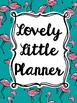 Teacher Planner: Teal Flamingo (Editable)