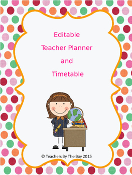 Teacher Planner Template
