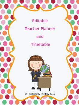 Teacher Planner Template
