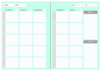 Weekly Schedule With Times Template from ecdn.teacherspayteachers.com
