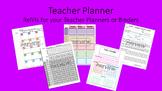 Teacher Planner Template for Happy Planner or Erin Condren