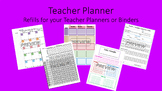 Teacher Planner Template for Happy Planner or Erin Condren