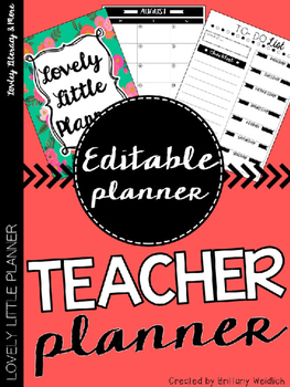 Teacher Planner: Tropical Floral (Editable)