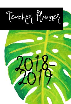 Teacher Planner Tropical Leaf