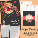 Teacher Binder / Planner: Warm Flowers