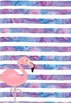 Editable Teacher Planner Template - Watercolor Flamingo