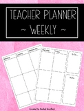 Teacher Planner Weekly
