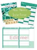 Teacher Planner (Weekly) Editable Version