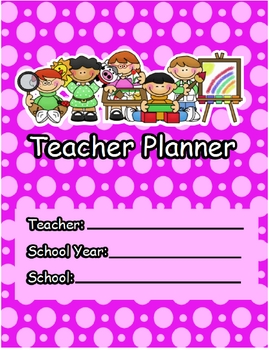 Teacher Planner: Weekly & Monthly Calendar Planner and more!