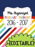 Rainbow Teacher Planner - YEARLY UPDATES - EDITABLE PLANNER