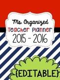 Editable Teacher Binder 2017-2018