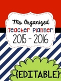 Editable Teacher Binder 2017-2018