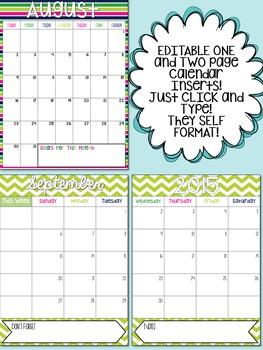 Teacher Planner Editable 2018 - 2019 binder