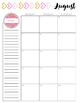 Teacher Planner // Pink Floral - PRINTABLE AND EDITABLE