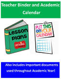 Teacher Planner and Academic Calendar