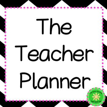 Teacher Planner and Binder (Pink and Black)