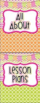 Teacher Planner and Calendar {Bright Polka Dot and Chevron}