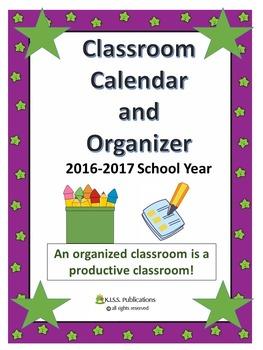 Teacher Planner and Classroom Organizer 2016 School Year