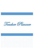 Teacher Planner and Data Tracker
