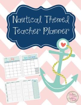 Teacher Planner and Organizational Binder - Nautical Themed