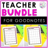 Teacher Planner and Student Data Bundle for GoodNotes
