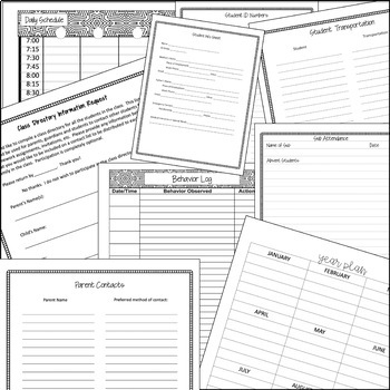 Teacher Binder Lesson Planner *Editable* Calendars Updated Yearly