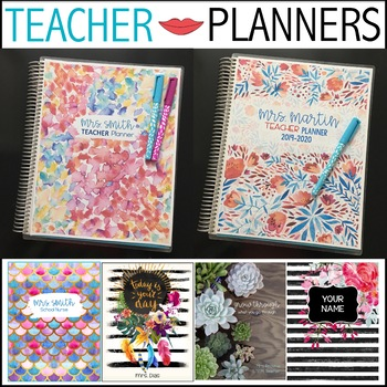Teacher Binder Lesson Planner *Editable* Calendars Updated Yearly