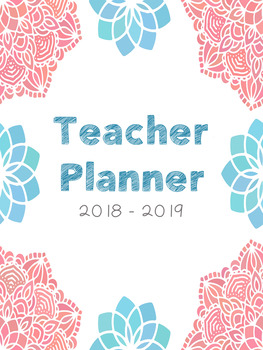 Editable Teacher Planner (Mandala Pattern)