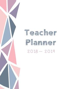 Editable Teacher Planner (Modern Patterns)