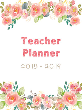 Editable Teacher Planner (Spring Floral)