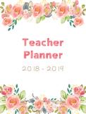 Editable Teacher Planner (Spring Floral)