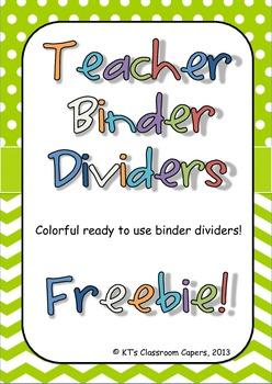 Binder Dividers *freebie*