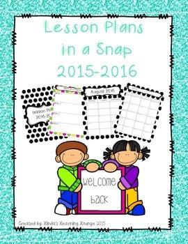 Teacher Planner for 2015 – 2016 School Year ~ 2 Polka Dot sets