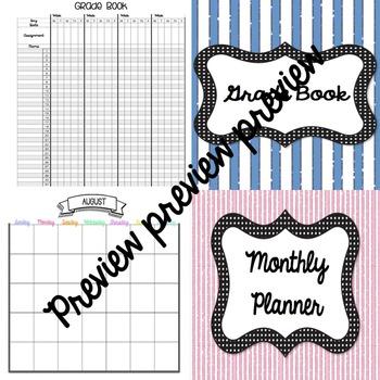 Teacher Planner for Any Year!!